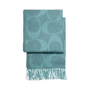 Coach scarf muffler stole - teal - NEW